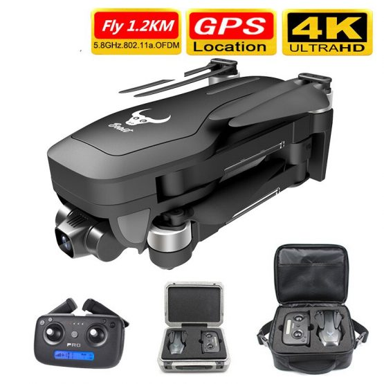 Smart Pro GPS Drone with Wifi FPV 4K HD Camera Two-axis anti-shake Self-stabilizing Gimbal Brushless Quadcopter Fly 1.2KM