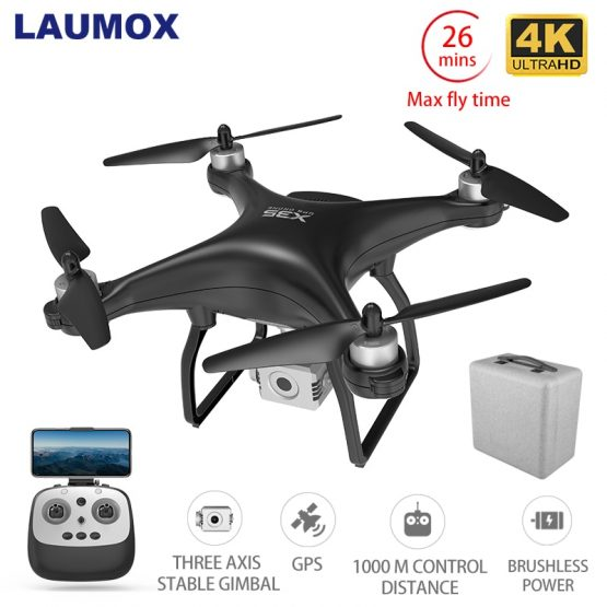 LAUMOX X35 Drone GPS WiFi 4K HD Camera Profissional RC Quadcopter Brushless Motor Two axes Gimbal Stabilizer 26 minute flight
