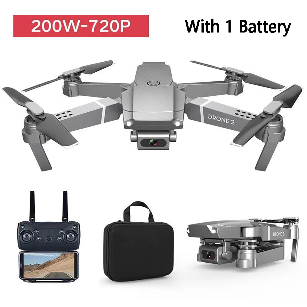 E68 Video Kids Gift RC Drone LED Light Wide Angle Rechargeable Folding Quadcopter Altitude Hold 2.4GHz WIFI FPV Multifunctional