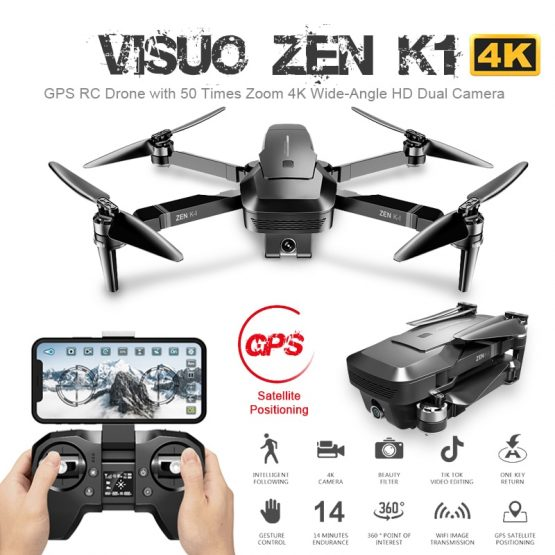 ZEN K1 GPS RC Drone with 50 Times Zoom 4K Wide-Angle HD Dual Camera 5G Wifi FPV Brushless Motor Flight 28mins Drone