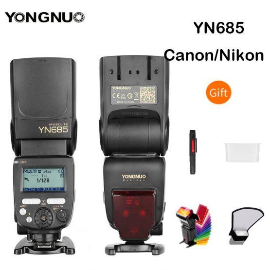 YONGNUO i-TTL flash Speedlite YN685 YN685N YN685C Works with YN622N YN622C RF603 Wireless Flash for Nikon Canon DSLR Cameras