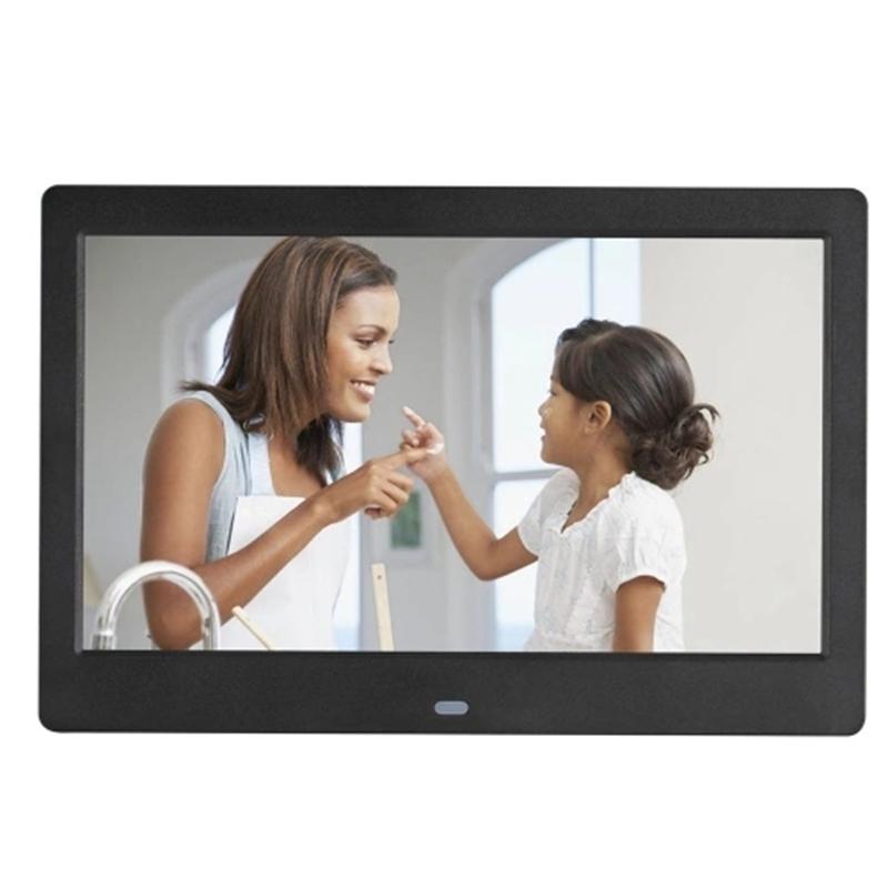 SJD-1003 10 Inch LEDs Digital Photo Frame 1024 x 600 H-D Screen Desktop Album Display Image MP4 Video MP3 Audio Clock Calendar w