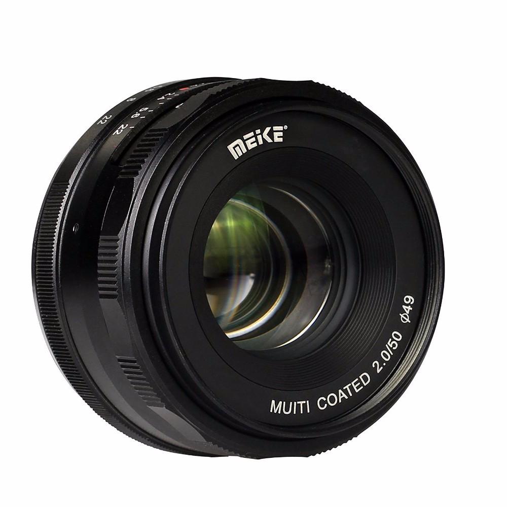 Meike MK-E-50-2.0 50mm f2.0 Large Aperture Manual Focus lens APS-C Lenses For Sony E Mount a6300 NEX7 DSLR Camera