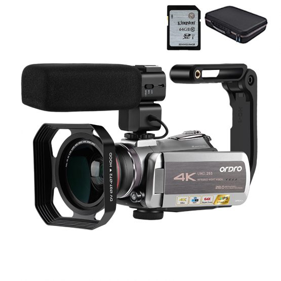 Camcorder 4K Video Camera Filmadora ORDRO AZ50 64X Digital zoom 30FPS Night Vision Videocamara with Microphone Stabilizer