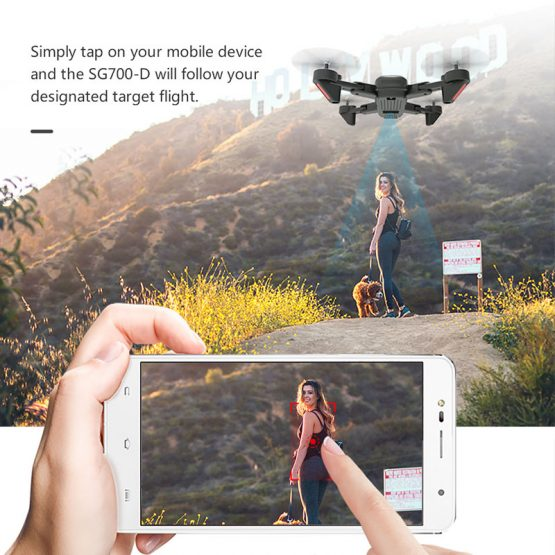 WIFI FPV Dual Camera Drone Follow Mode SG700 Upgraded Foldable RC 4K Drone Professional WIFI FPV Dual Camera Drone Follow Mode APP Control Quadcopter For Gift Toy Drone
