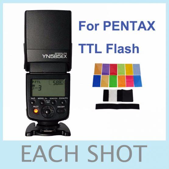 Yongnuo Wireless Flash Speedlite YN585EX P-TTL for Pentax K1 K3 K3II K5 K5II K-5IIs K70 K50 K30 KS2 KS1 DSLR Camera