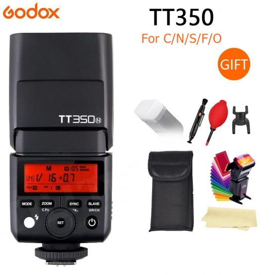 Godox Mini Speedlite TT350C TT350N TT350S TT350F TT350O Camera Flash TTL HSS GN36 for Canon Nikon Sony Fuji Olympus DSLR Camera