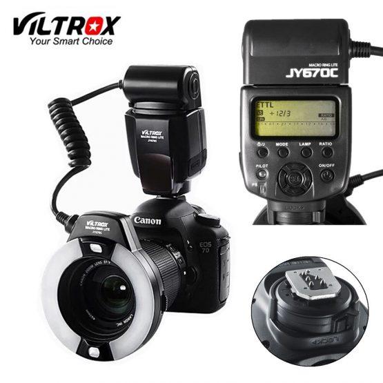 Viltrox JY-670C DSLR Camera photo LED TTL Macro Ring Lite Flash Speedlite Light for Canon 1300D 800D 77D 5D Mark IV 7D II 6D 80D