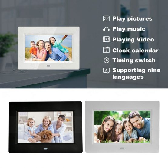 7 Inch Led Backlight Hd Full Function Digital Photo Frame Electronic 7 Inch Led Backlight Hd Full Function Digital Photo Frame Electronic Album Photo Desktop Photo Album Music Video