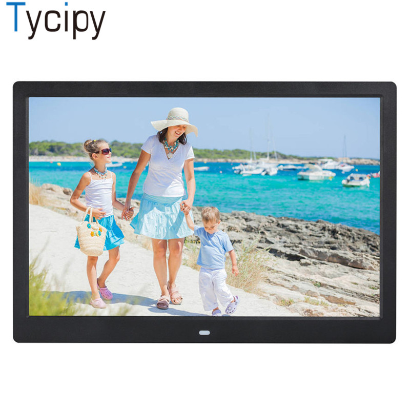 "Tycipy 15"" Digital Photo Frame HD LCD Electronic 1280*800 LED Screen Photo Frame with Remote Control for Music Mp3 Video Mp4"