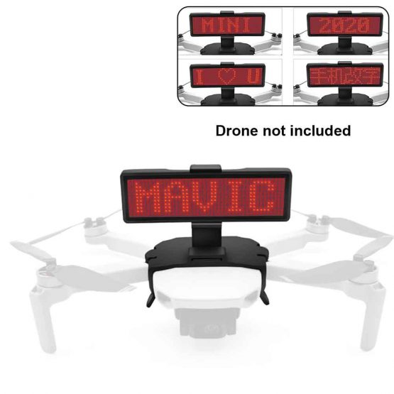 Portable LED Display Screen DIY Lightweight Drone Accessory ABS Outdoor Advertising With Holder Mount Graphic For DJI Mavic Mini