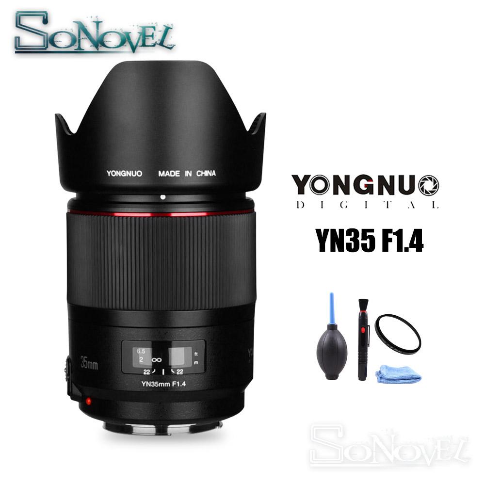 YONGNUO YN35mm F1.4 Wide-Angle Prime Lens Full Frame Lense for Canon DSLR Camera 70D 80D 5D3 MARK II 5D2 5D4 800D 200D 7D2 6D 5D
