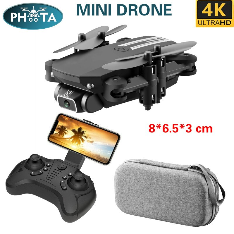 2020 Mini RC Drone 4K HD Camera WIFI altitude hold Foldable Quadcopter Headless Mode 360 Roll Pocket Helicopter indoor Toy Dron