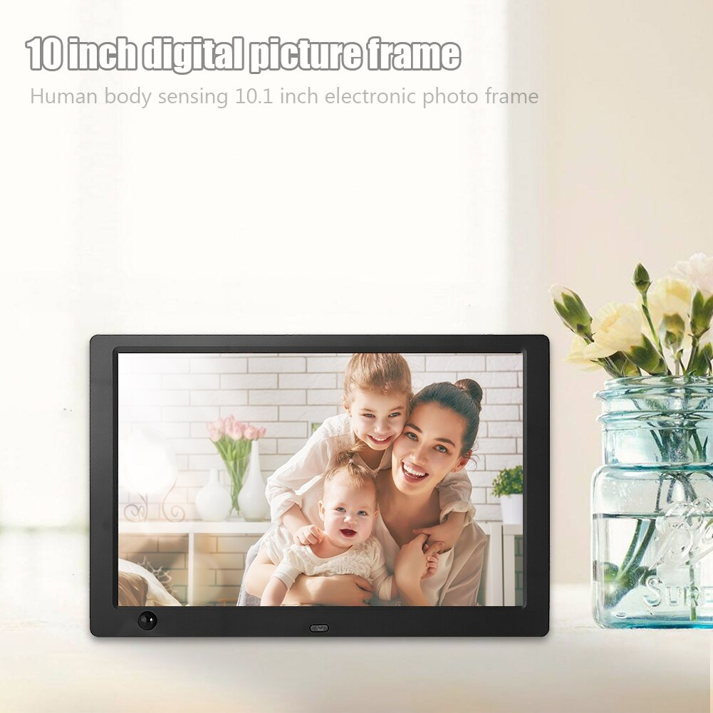 Simple Digital Photo Frame 10 inch LED IPS Screen Electronic Album Picture Music Video Human Induction Electronic Album Picture