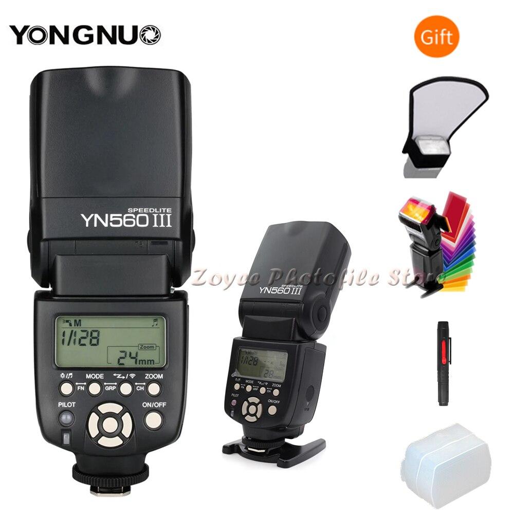 YONGNUO YN 560 III IV Wireless Master Flash Speedlite for Nikon Canon Olympus Pentax DSLR Camera Flash Speedlite Original W Gift