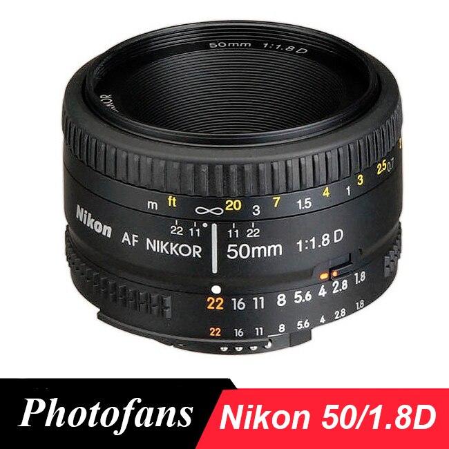Nikon 50mm Lens AF 50 / 1.8D Lenses for Nikon D90 D7100 D7200 D7500 D500 D610 D750 D810 D850 Dslr Camera Lens
