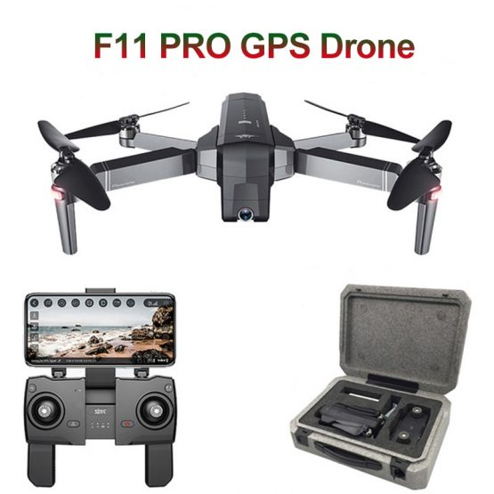 SJRC F11 PRO GPS RC Drone Quadcopter With 2K HD Camera Wide Angle 5G Wifi FPV 28mins Flight Brushless Helicopter Selfie Drones