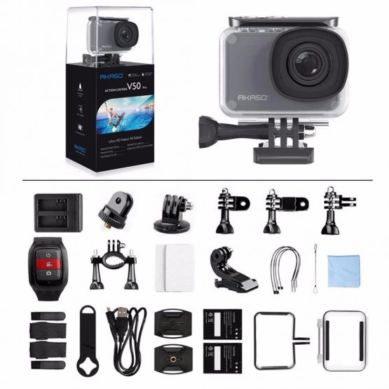 AKASO V50 Pro Native 4K/30fps 20MP WiFi Digital Action Camera AKASO V50 Pro Native 4K/30fps 20MP WiFi Digital Action Camera EIS 30M waterproof Sport go Helmet pro sport cam+Gift Selfie Stick