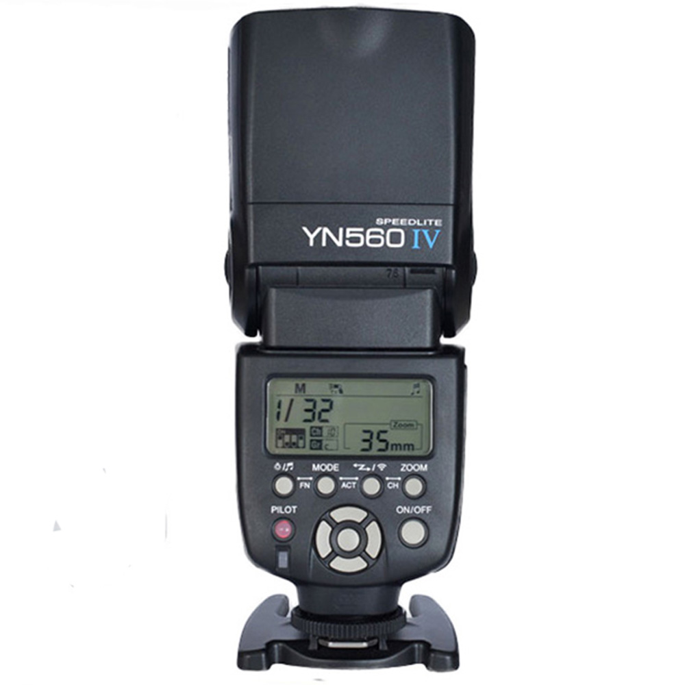 Yongnuo YN-560 IV Flash Speedlite for Canon Nikon Pentax Olympus DSLR Cameras YN560 4 560VI upgrade version of YN560 II YN560III