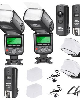 Neewer 750II i-TTL Flash Speedlite Kit for Nikon DSLR Camera,Includes: 2 Neewer 750II Flash+2.4G Wireless Trigger +N1/N3 Cables