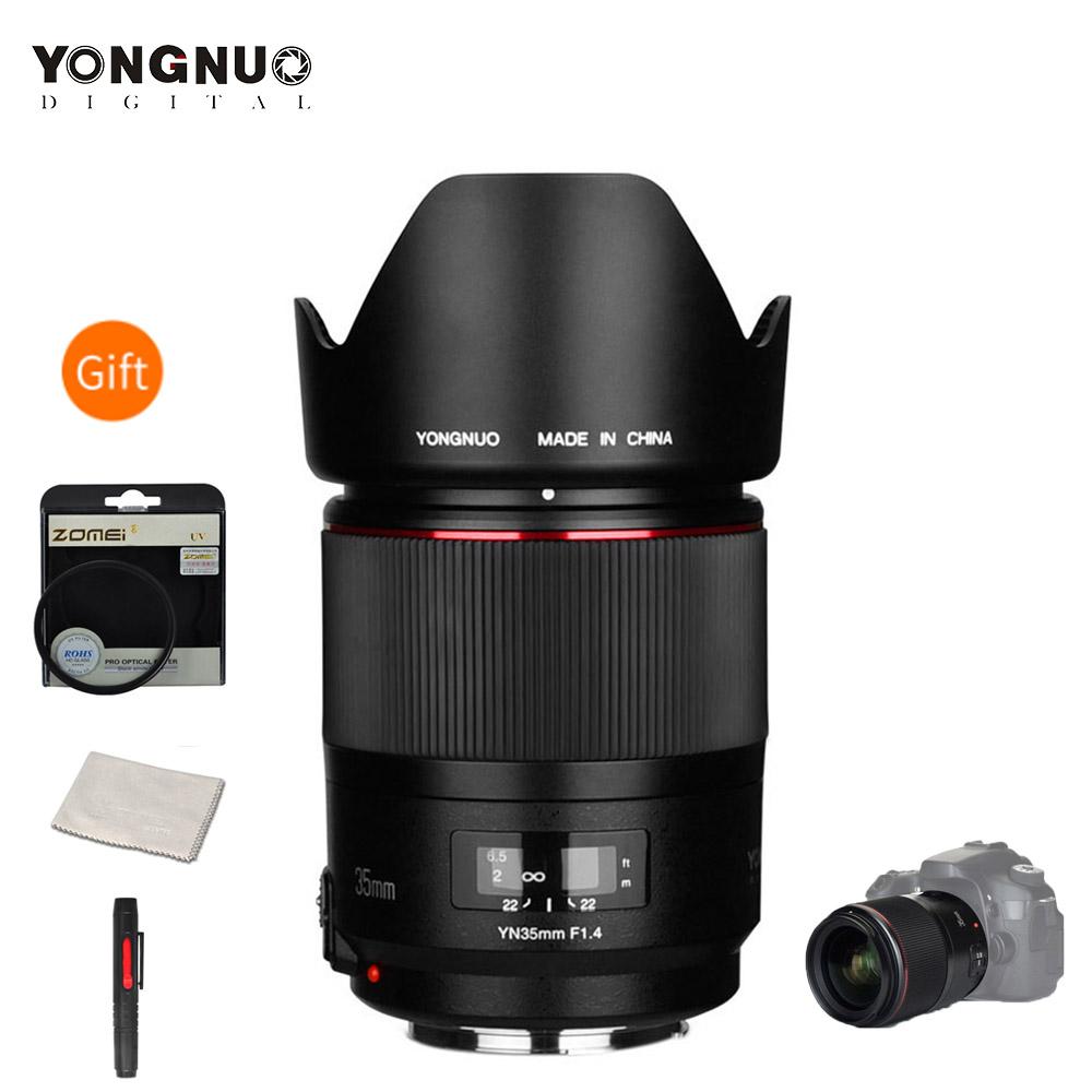 YONGNUO YN35mm F1.4 Wide-Angle Prime Lens Full Frame Lense for Canon DSLR Cameras 70D 80D 5D3 MARK II 5D2 5D4 600D 7D2 6D 5D II