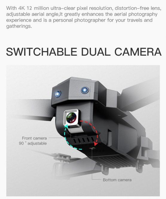 HD Camera WIFI FPV Altitude Holding Foldable Selfie Drone RC Quadcopter SG107 Drone 4K HD Camera WIFI FPV Altitude Holding Foldable Selfie Drones VS XS816 SG106 SG706 KY606D E68 SG901