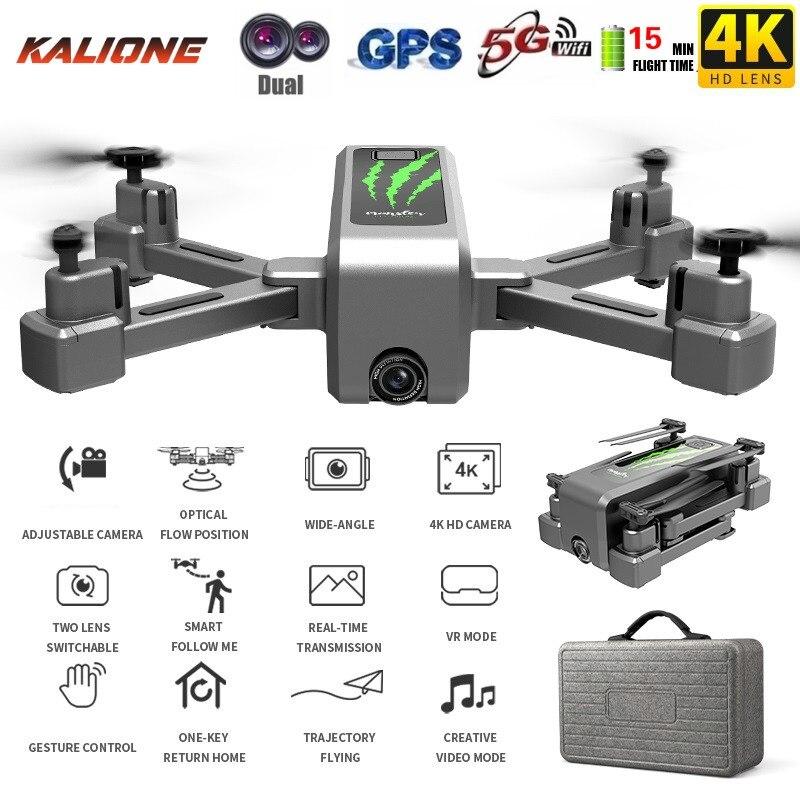 H5 RC drone GPS 4K HD camera 1080P 5G WIFI FPV drone ESC camera profissional 50X Zoom Wide Angle Optical Flow Selfie drones DRON