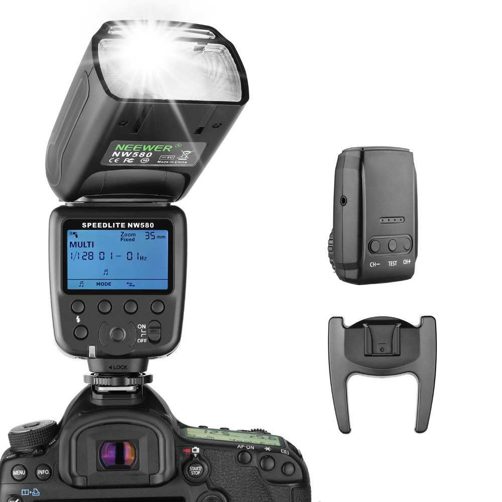 Neewer Wireless Flash Speedlite for Canon Nikon Sony Panasonic Olympus Fujifilm and Other DSLR Cameras with Standard Hot Shoe