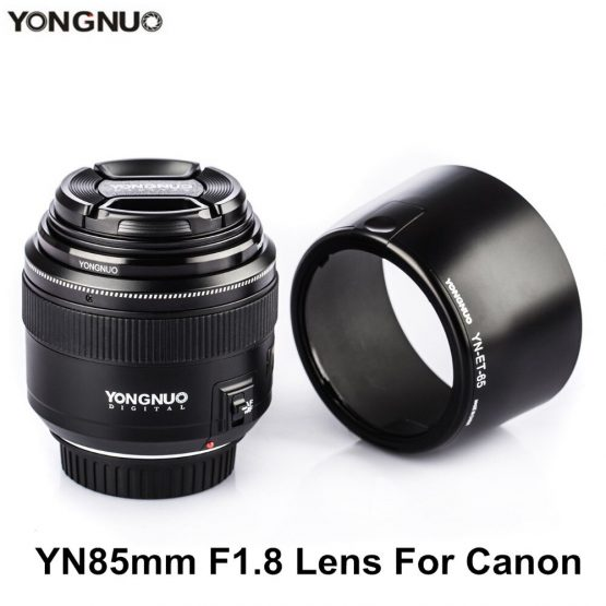 YONGNUO YN85mm F1.8 Lens AF / MF Standard & Medium Telephoto Prime Lens fixed focus lens For Canon EF Mount DSLR Camera Lenses