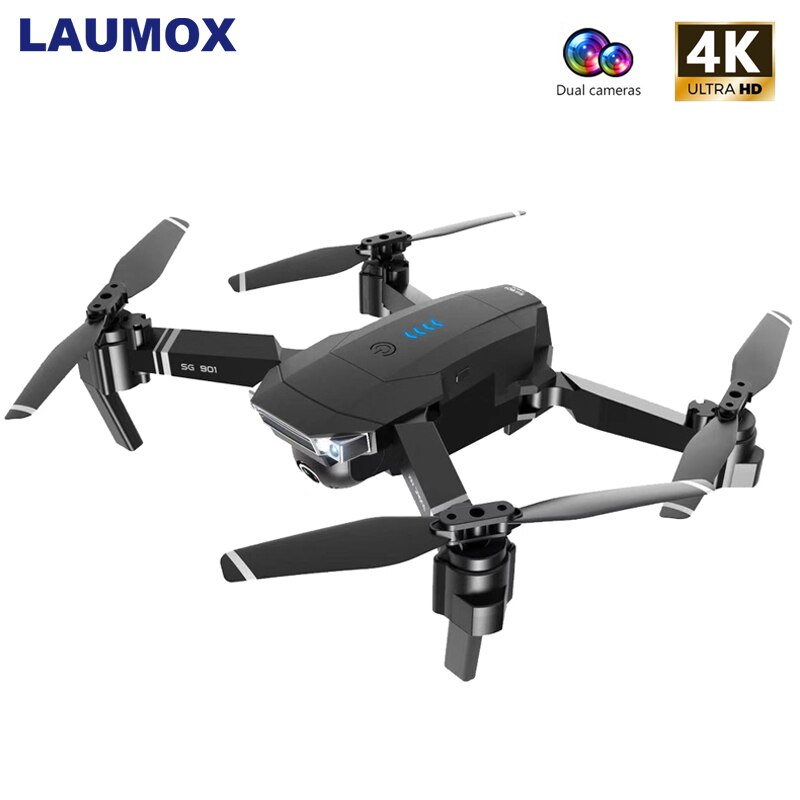 LAUMOX SG901 RC Drone 4K HD Camera/1080P WiFi FPV Professional Optical Flow Camera Drone 18 minutes RC Quadcopter VS Xs816 SG106