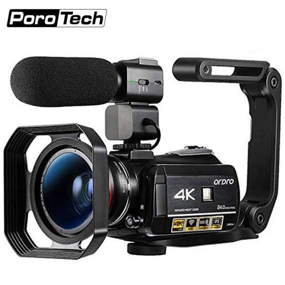3.1inch Screen Digital Camera Professional Night-vision Recording Used As PC Cam Camcorder Ultra HD 4K Video Camera Anti-shake