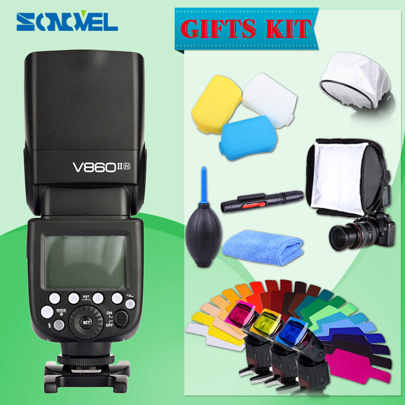 Godox V860II Camera Speedlite 2.4G 1/8000s with 2000mAh Li-on Battery Wireless Flash light for Nikon DSLR D800 D700 D7100 D5200