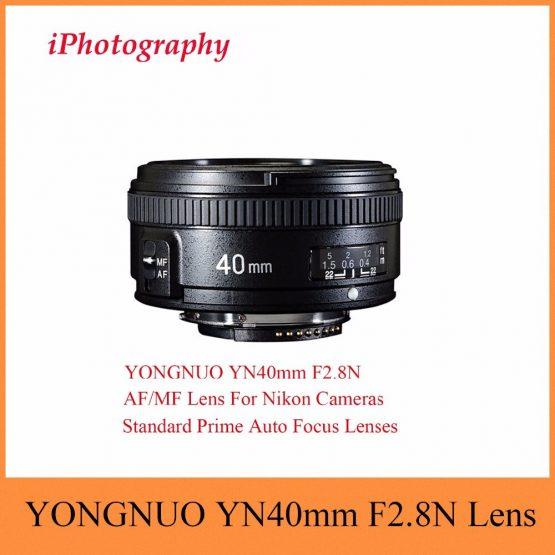 YONGNUO YN40mm F2.8N AF/MF Lens YN40mm Standard Prime Auto Focus Lenses For Nikon DSLR Cameras D7200 D5300 D5200 D750