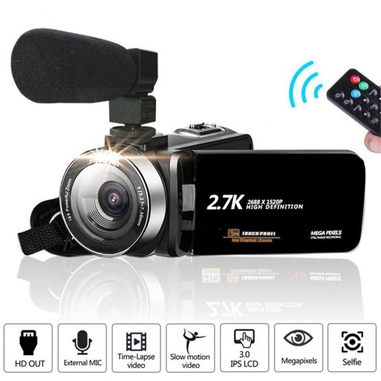 Professional 3000W 4K HD Camcorder Video Camera Night Vision 3.0 Inch HD Touch Screen Camera 18X Digital Zoom Camera With Mic