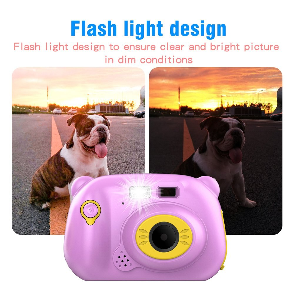 1080P FHD Auto Focus Wifi Children Camera Mini 2 Inch Cartoon Digital Camera Cute Toys Children Birthday Gift For Kids Cameras