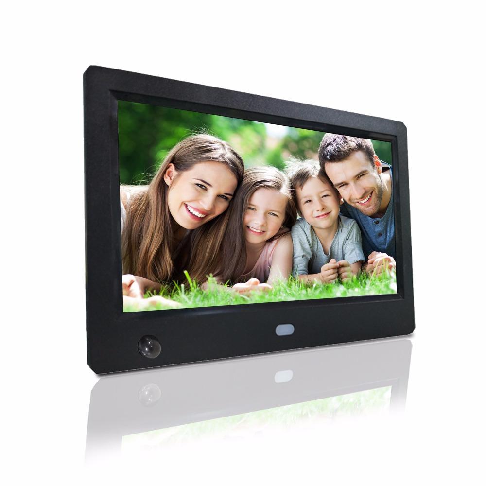 Motion sensor body sensor usb photo frame auto play picture video hd resolution photo display screen digital photo frame 7 inch