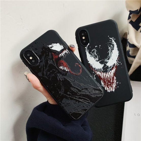 Cute Venom Pattern Phone Case For Samsung Note 10 8 9 plus S10 S10E S9 S8 S7 Edge A30 A50 A70 A80 A5 A8 A9 Cartoon Soft Cover