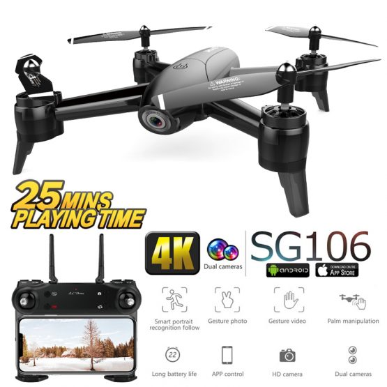 SG106 WiFi Drones With Camera 4K Dual Camera Optical Flow Aerial Video Helicopter RC Quadcopter For Toys Kid RTF Dron 4k Drone