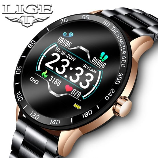 LIGE 2020 New Smart Watch Men Waterproof Sport Heart Rate Blood Pressure Fitness Tracker Smartwatch Pedometer reloj inteligente