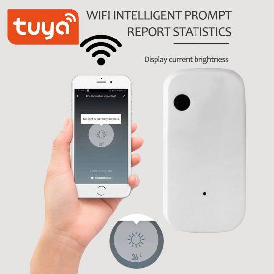 Tuya Light Sensor Brightness Detector Smart Home Security Linkage Illumination Sensor Wireless Remote Control Smart life App