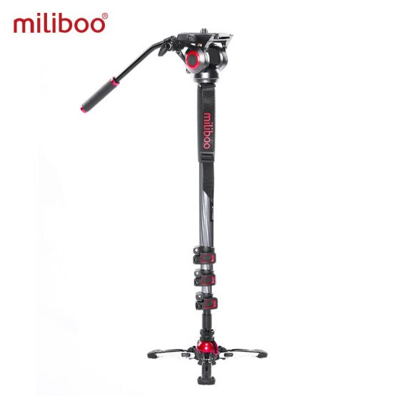 miliboo MTT705II Portable Carbon Fiber Tripod Monopod for ProfessionalCamera Camcorder/Video/DSLR Stand,Half Price of Manfrotto