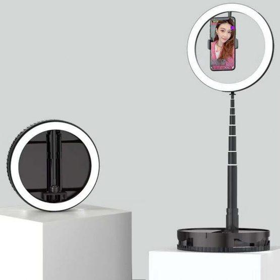 168cm Storable Phone Holders With Selfie Ring LED Light Flexible Mobile Holder Tripod Bracket For Youtube Tiktok Vlog Live Video