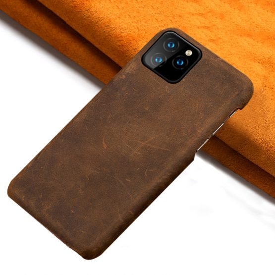 LANGSIDI Genuine PULL-UP Leather phone case for iphone 11 11Pro Max X XR XS MAX 6s 7 8 Plus 6 5 5S SE 2020 protection Back cover
