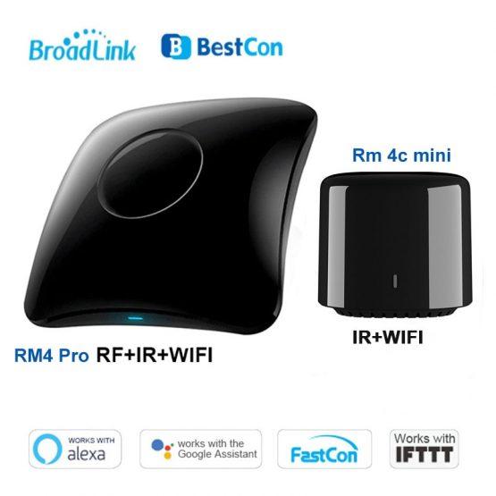 2020 Broadlink RM4 pro/ RM4C Mini Smart Home WiFi IR/RF Remote Controller Automation Modules work with Alexa amazon Google Home