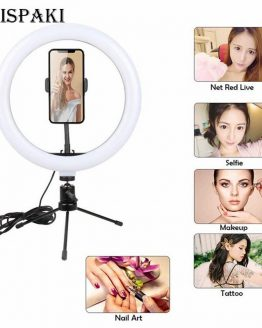 "10"" LED ring light 26cm Photography Lighting Dimmable Selfie Bluetooth remote lamp with tripod for makeup Youtube Tiktok Video"