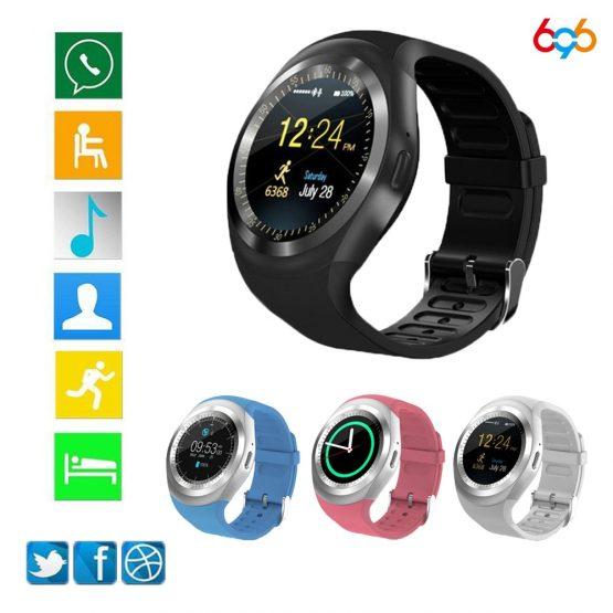 696 Bluetooth Y1 Smart Watch Relogio Android SmartWatch Phone Call GSM Sim Remote Camera kids Intelligent clock Sports Pedometer