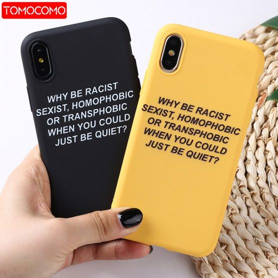 Lovely Cartoon Color Back Cover Funny Letter Quote Soft Phone Case Fundas For iPhone 11 Pro 7Plus 7 6Plus 6 6S 8 8Plus X XS Max