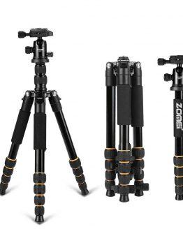 Zomei Q666 Professional Tripod For DSLR Camera Ball Head Tripod Monopod Compact Travel Camera Tripod for Canon Nikon Sony SLR