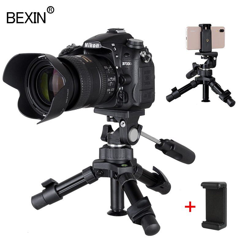BEXIN Phone stand mini tripod camera holder smartphone tripod flexible folding desktop pocket tripod for mobile phone dslr