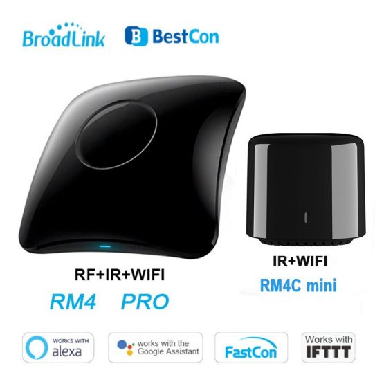 Broadlink Bestcon RM4 Pro RM4C Mini WiFi+IR+RF Smart Home Universal Intelligent Remote Controller works with Alexa Google Home